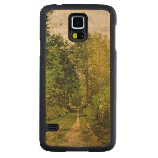 Coque Mince En Érable Galaxy S5 Chemin boisé de Claude Monet |