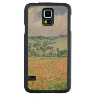 Coque Mince En Érable Galaxy S5 Claude Monet | le champ de pavot près de Giverny,