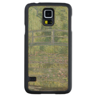 Coque Mince En Érable Galaxy S5 Claude Monet | l'étang de nénuphar : Harmonie