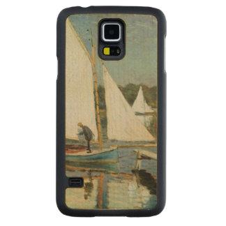 Coque Mince En Érable Galaxy S5 Claude Monet | naviguant à Argenteuil, c.1874