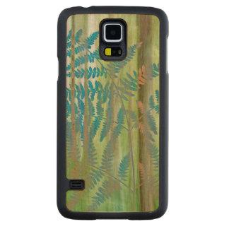 Coque Mince En Érable Galaxy S5 Collage des fougères et de la forêt | Seabeck, WA