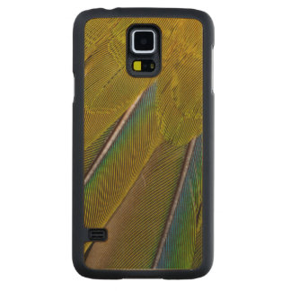 Coque Mince En Érable Galaxy S5 Conception de plume de Jenday Conure