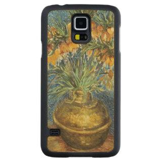 Coque Mince En Érable Galaxy S5 Fritillaires impériales de couronne de Vincent van
