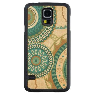Coque Mince En Érable Galaxy S5 Motifs circulaires
