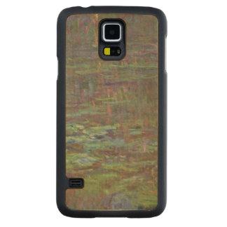 Coque Mince En Érable Galaxy S5 Nénuphars de Claude Monet | au coucher du soleil