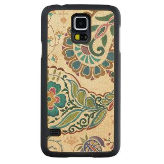 Coque Mince En Érable Galaxy S5 Paon lunatique
