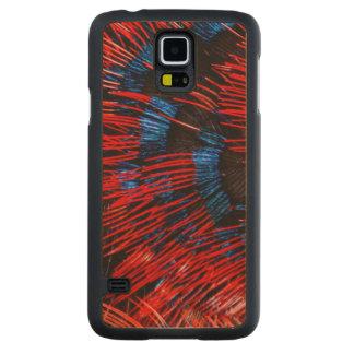 Coque Mince En Érable Galaxy S5 Plumes Écarlate-Chested de Sunbird