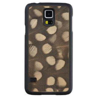 Coque Mince En Érable Galaxy S5 Plumes repérées de cailles de Mearns