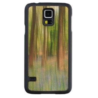 Coque Mince En Érable Galaxy S5 Région boisée BRITANNIQUE de chêne de jacinthe des