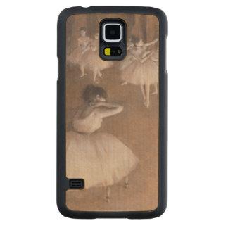 Coque Mince En Érable Galaxy S5 Répétition de ballet d'Edgar Degas   sur l'étape,