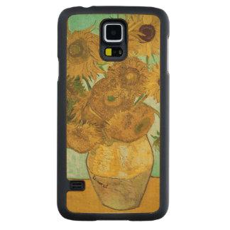 Coque Mince En Érable Galaxy S5 Tournesols de Vincent van Gogh |, 1888