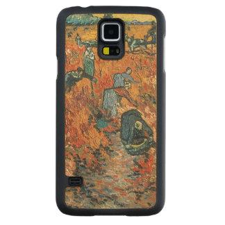 Coque Mince En Érable Galaxy S5 Vignobles de rouge de Vincent van Gogh | chez