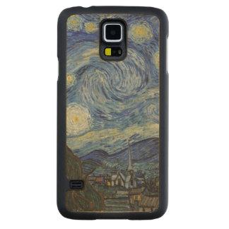 Coque Mince En Érable Galaxy S5 Vincent van Gogh | la nuit étoilée, juin 1889