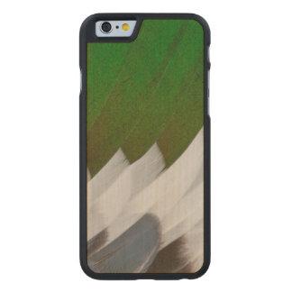 Coque Mince En Érable iPhone 6 Abrégé sur coloré plume de canard