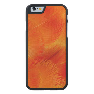 Coque Mince En Érable iPhone 6 Abrégé sur orange plume d'ara de Camelot