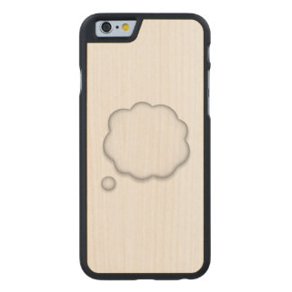 Coque Mince En Érable iPhone 6 Bulle de la parole de pensée - Emoji