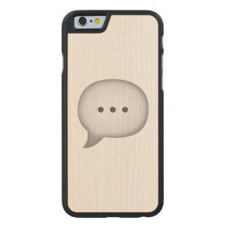 Coque Mince En Érable iPhone 6 Bulle de la parole - Emoji