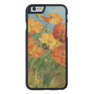 Coque Mince En Érable iPhone 6 Champ floral d'été