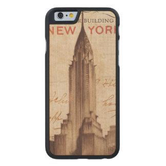 Coque Mince En Érable iPhone 6 Chrysler vintage construisant à New York