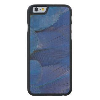 Coque Mince En Érable iPhone 6 Conception bleue de plume d'ara de jacinthe
