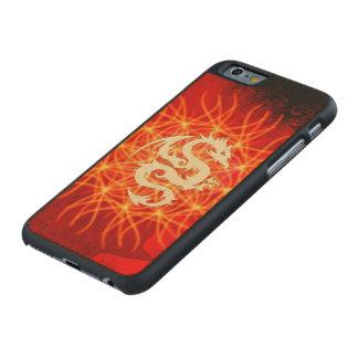 Coque Mince En Érable iPhone 6 Dragon d'or merveilleux