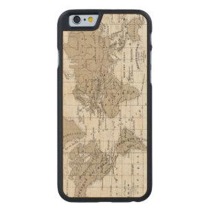 Coque Mince En Érable iPhone 6 Mappemonde