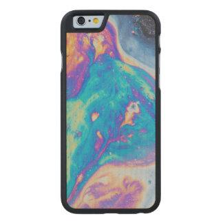 Coque Mince En Érable iPhone 6 Motifs colorés d'huile, Canada