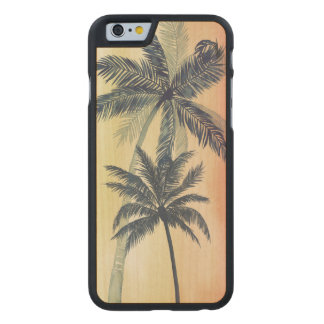 Coque Mince En Érable iPhone 6 Palmettes tropicales