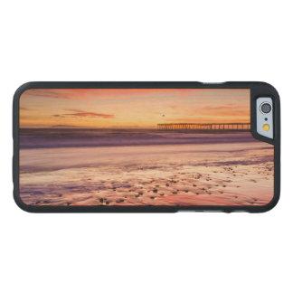 Coque Mince En Érable iPhone 6 Paysage marin et pilier au coucher du soleil, CA