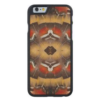 Coque Mince En Érable iPhone 6 Pheasant Feather Design de Madame Amherst
