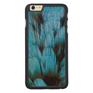 Coque Mince En Érable iPhone 6 Plus Abrégé sur à capuchon bleu plume de Pita