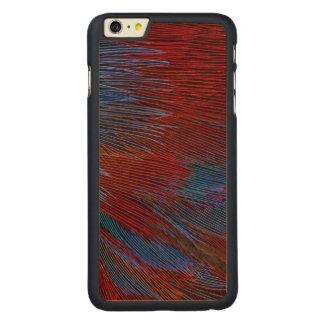 Coque Mince En Érable iPhone 6 Plus Abrégé sur bleu et rouge plume