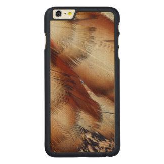 Coque Mince En Érable iPhone 6 Plus Abrégé sur plume de Brown Tragopan