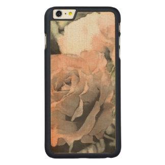 Coque Mince En Érable iPhone 6 Plus arrière - plan vintage floral d'art avec