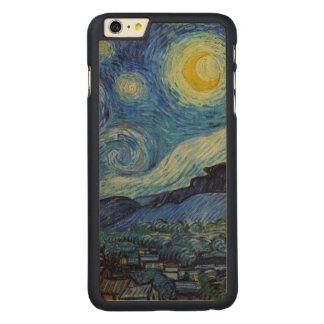 Coque Mince En Érable iPhone 6 Plus Beaux-arts de GalleryHD de nuit étoilée de Vincent
