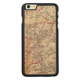 Coque Mince En Érable iPhone 6 Plus Carte : Boston, 1883