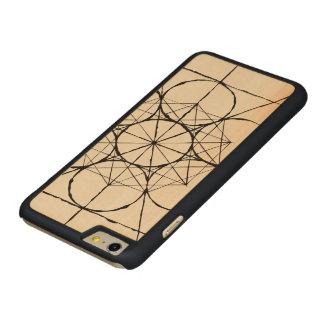 Coque Mince En Érable iPhone 6 Plus Cas sacré artistique de téléphone de la géométrie