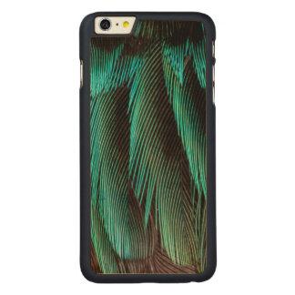 Coque Mince En Érable iPhone 6 Plus Conception bleue et noire de plume