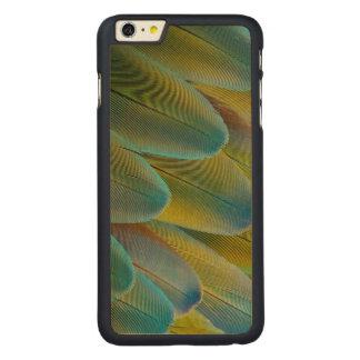 Coque Mince En Érable iPhone 6 Plus Conception de plume d'ara de Camelot