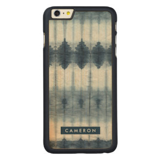 Coque Mince En Érable iPhone 6 Plus Copie de Shibori Indigio