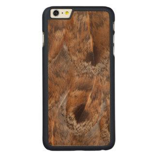 Coque Mince En Érable iPhone 6 Plus Fermez-vous des plumes de Brown