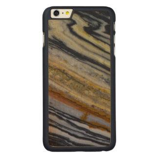 Coque Mince En Érable iPhone 6 Plus Fermez-vous d'une dalle striée de jaspe