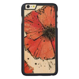 Coque Mince En Érable iPhone 6 Plus Fleur sur un arrière - plan blanc