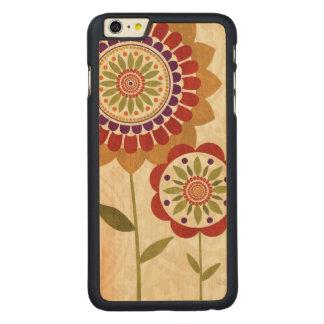 Coque Mince En Érable iPhone 6 Plus Fleurs contemporaines d'automne