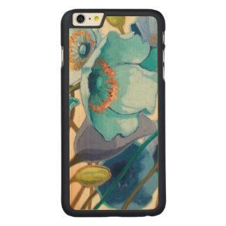 Coque Mince En Érable iPhone 6 Plus Fleurs dans différentes nuances de pourpre et de