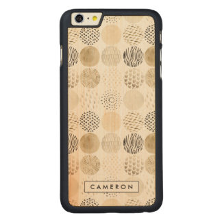 Coque Mince En Érable iPhone 6 Plus Motif abstrait de cercle de neutre
