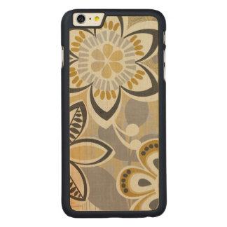 Coque Mince En Érable iPhone 6 Plus Motifs floraux contemporains