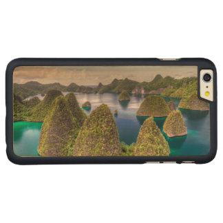 Coque Mince En Érable iPhone 6 Plus Paysage d'île de Wayag, Indonésie
