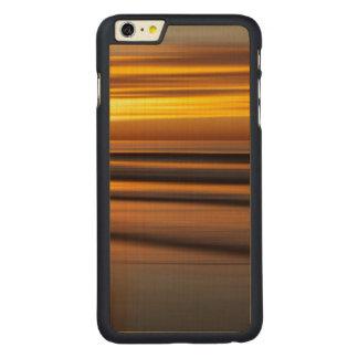 Coque Mince En Érable iPhone 6 Plus Paysage marin abstrait au coucher du soleil, CA