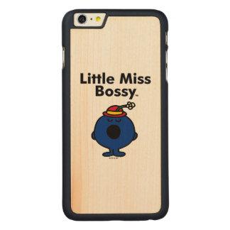 Coque Mince En Érable iPhone 6 Plus Petite petite Mlle Bossy de la Mlle   est si